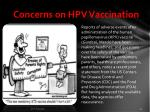 concerns on hpv vaccination