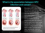 what is the association between hpv infection and cancer