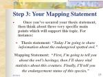 step 3 your mapping statement1