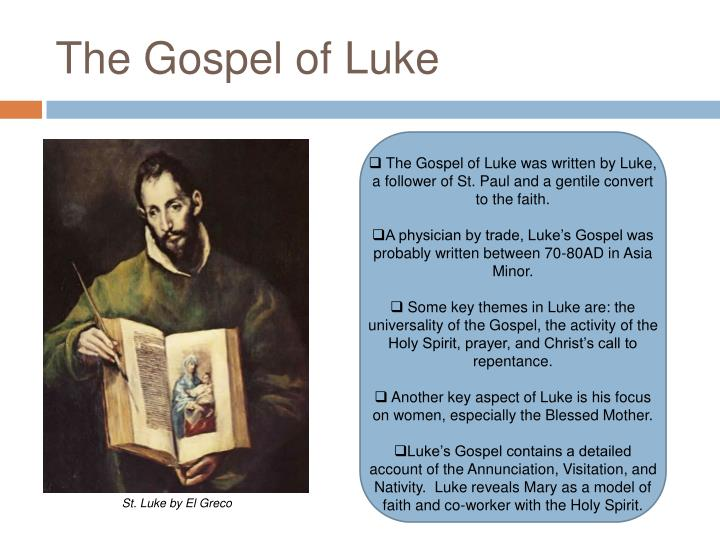 an analysis of the annunciation in the book of luke The annunciation described by saint luke is interpreted in terms of actuality in this painting book of illustrations national gallery of art.
