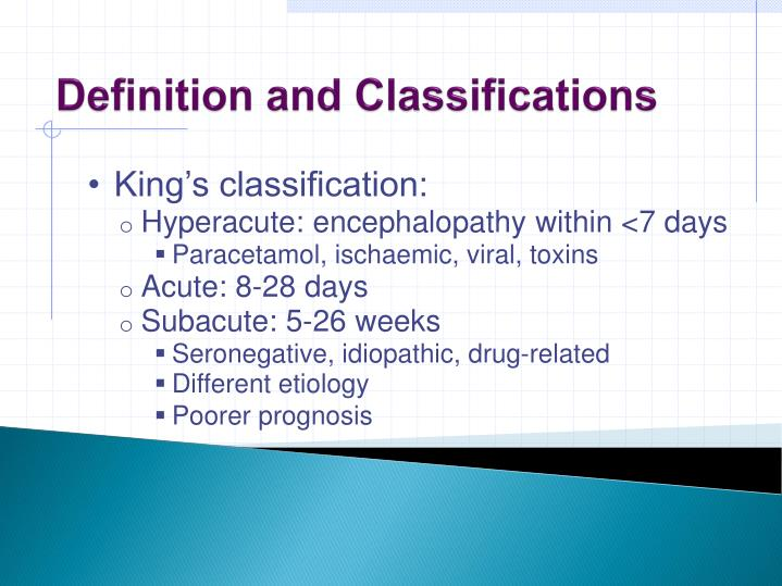 Definition and Classifications