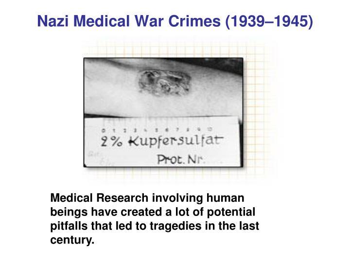 Nazi medical war crimes 1939 1945