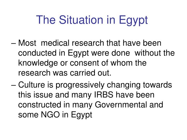 The Situation in Egypt