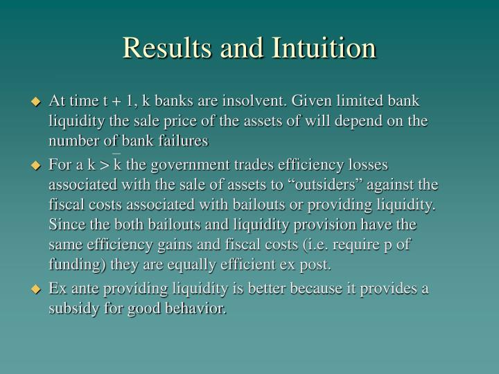 Results and Intuition
