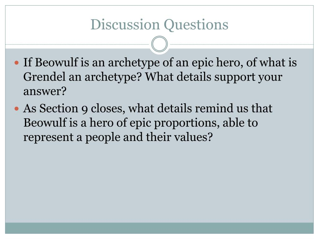 PPT - Beowulf: Sections 1-10 PowerPoint Presentation, free ...