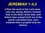 jeremiah 1 4 5