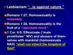 lesbianism is against nature