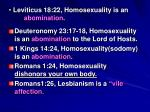 leviticus 18 22 homosexuality is an abomination