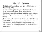 growth by accretion