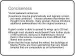 conciseness
