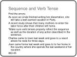 sequence and verb tense
