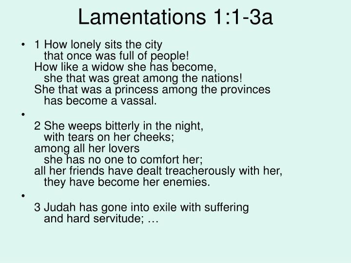 Lamentations 1:1-3a
