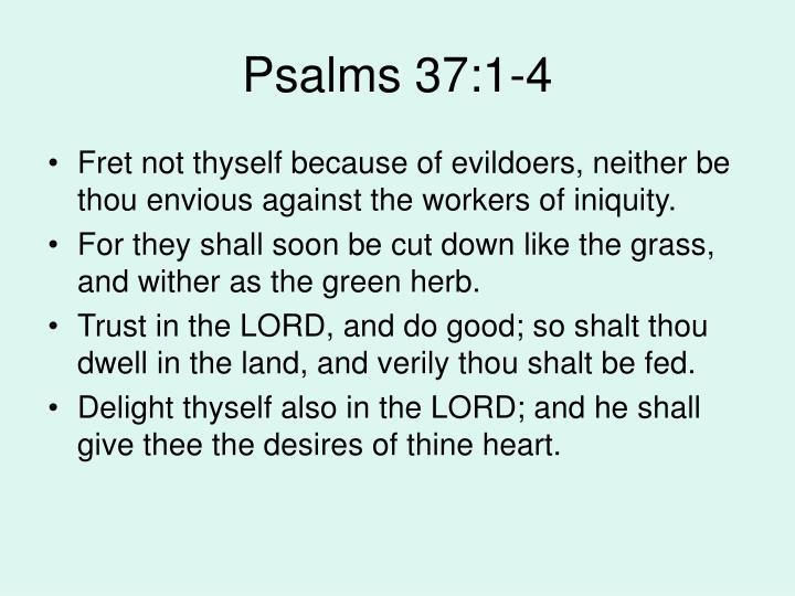 Psalms 37:1-4