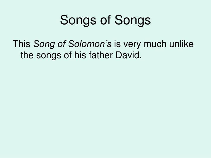 Songs of songs