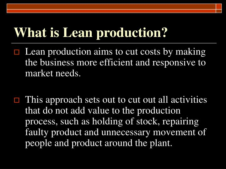 What is lean production1