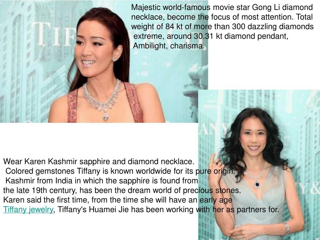 Majestic world-famous movie star Gong Li diamond
