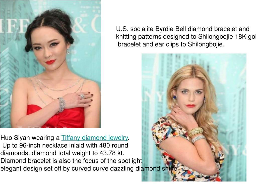 U.S. socialite Byrdie Bell diamond bracelet and