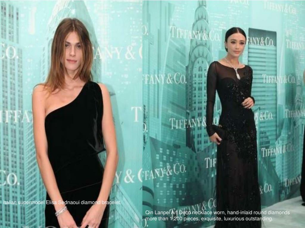 Italian supermodel Elisa Sednaoui diamond bracelet.