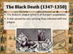 the black death 1347 1350