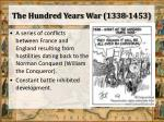the hundred years war 1338 1453