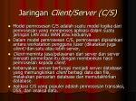 jaringan client server c s