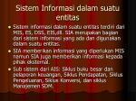 sistem informasi dalam suatu entitas