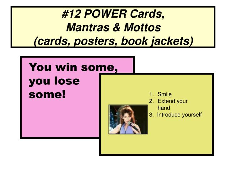 #12 POWER Cards,