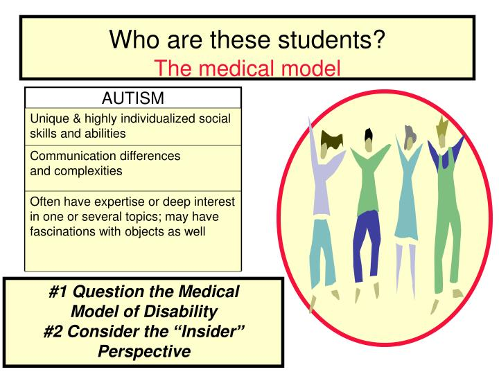 Who are these students the medical model