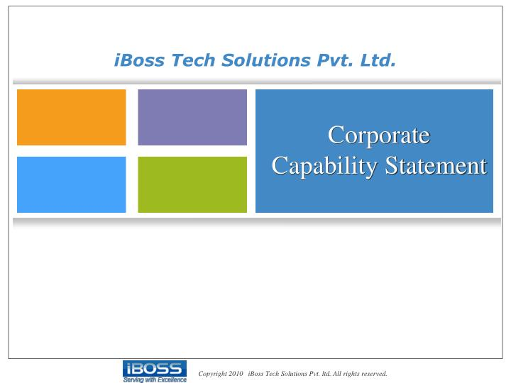 corporate capability statement n.