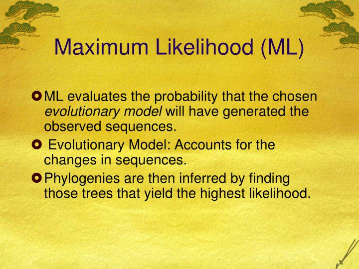 Maximum Likelihood (ML)