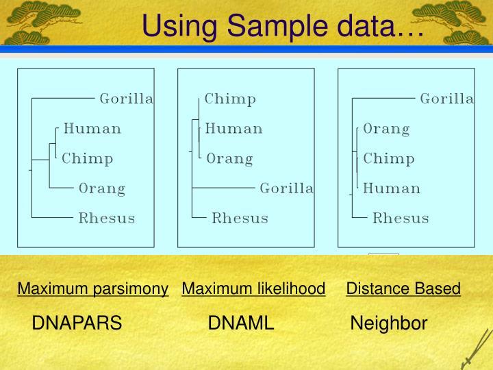 Using Sample data