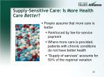 supply sensitive care is more health care better