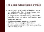 the social construction of race