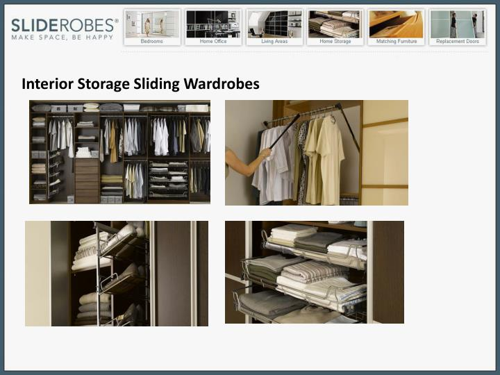 Interior Storage Sliding Wardrobes