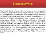 srijan realty ltd