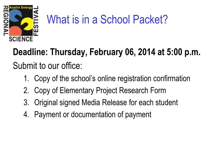 Deadline: Thursday, February 06, 2014 at 5:00 p.m.