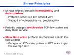 shrew principles