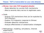 thesis tcp is vulnerable to low rate attacks