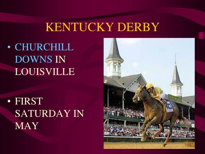 kentucky derby n.