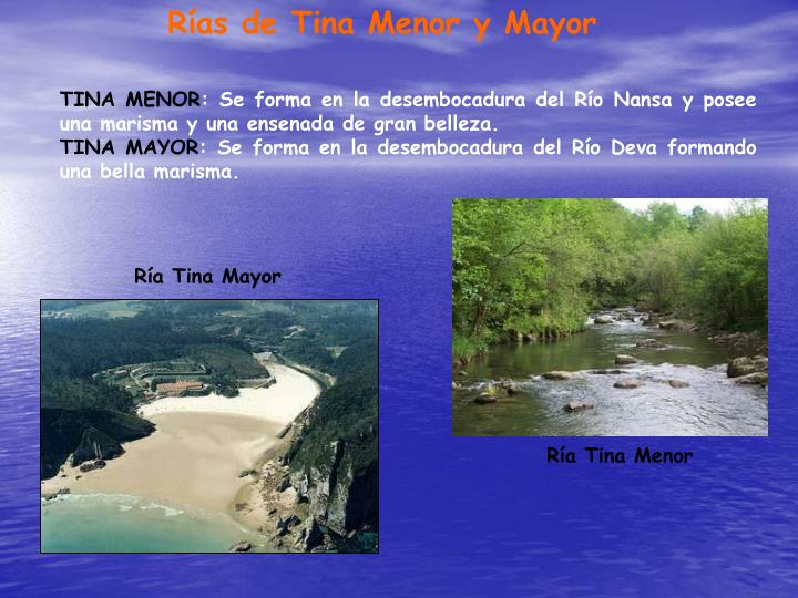 Rías de Tina Menor y Mayor