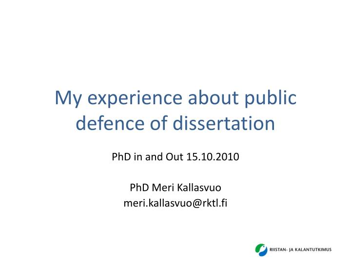 ppt - my experience about public defence of dissertation, Modern powerpoint