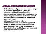 animal and human behaviour
