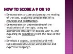 how to score a 9 or 10