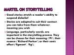 martel on storytelling