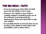 the big ideas faith
