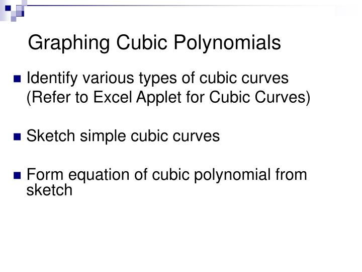 Ppt Graphing Cubic Polynomials Powerpoint Presentation Free