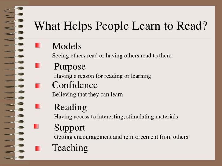 What Helps People Learn to Read?