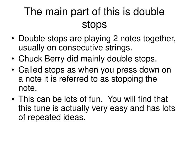 The main part of this is double stops