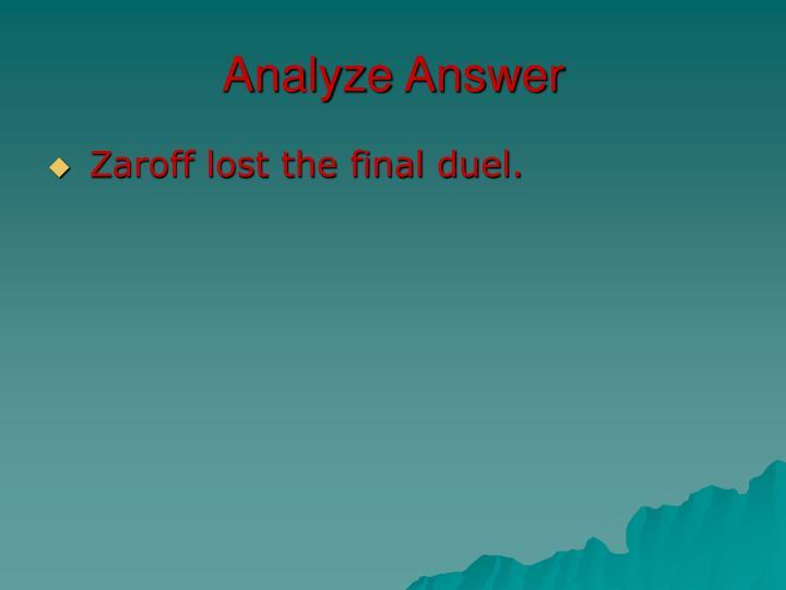 Analyze Answer