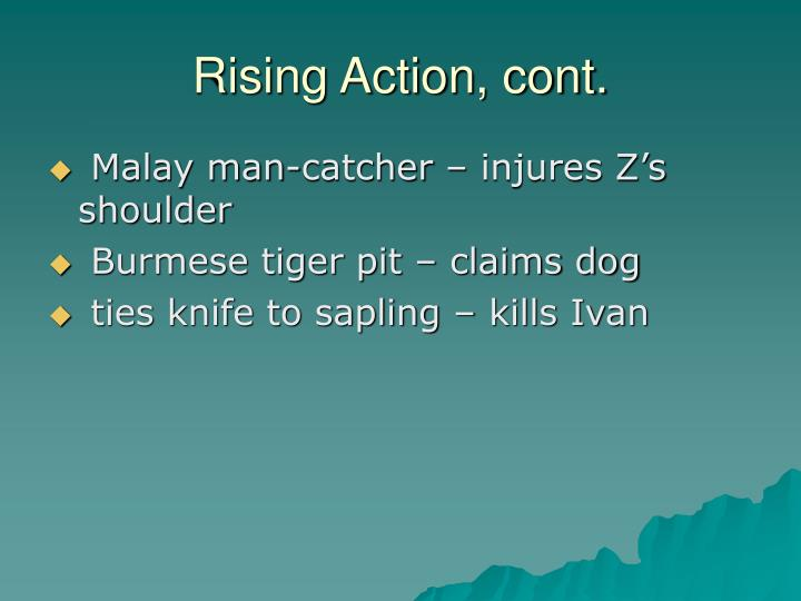 Rising Action, cont.